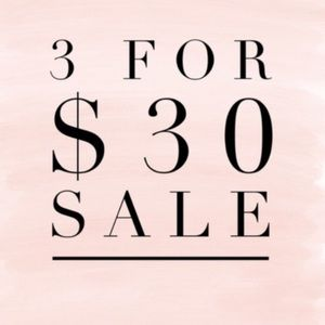 ‼️3/$30 SALE!!‼️